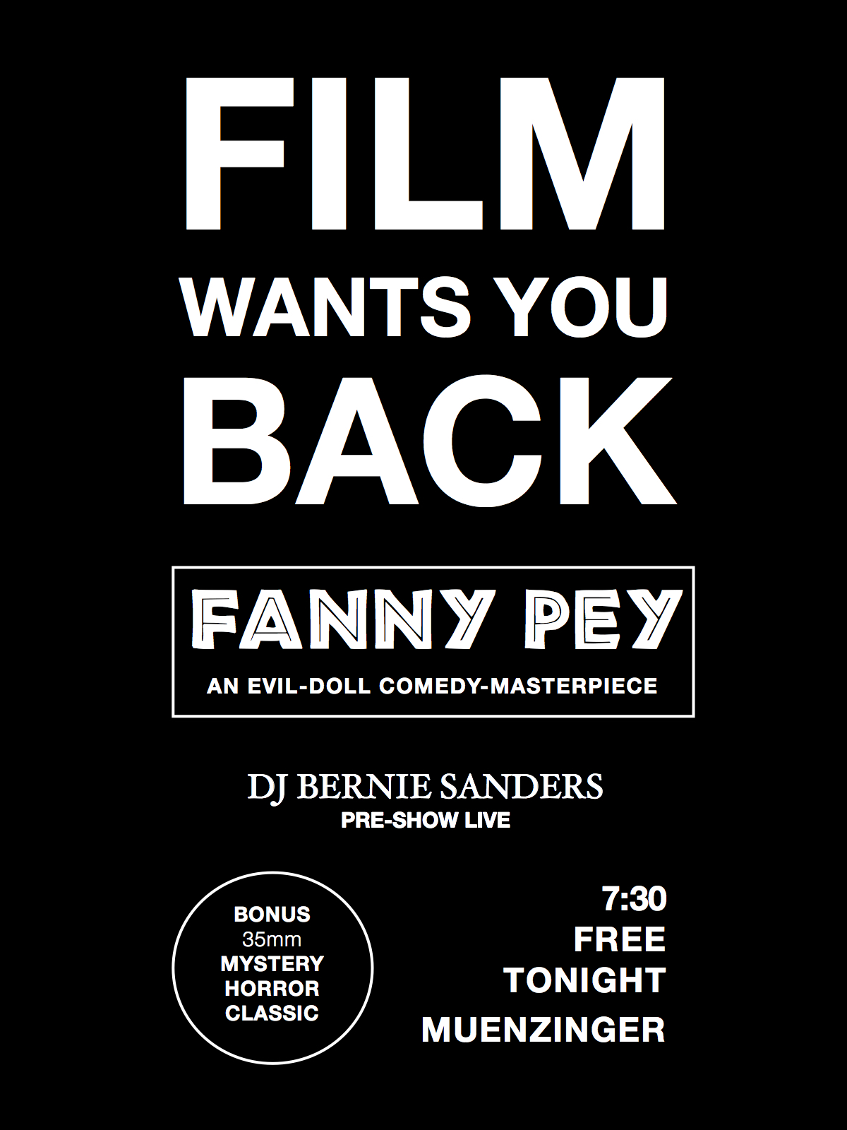 IFS Halloween FANNY PEY Screening (free admission)